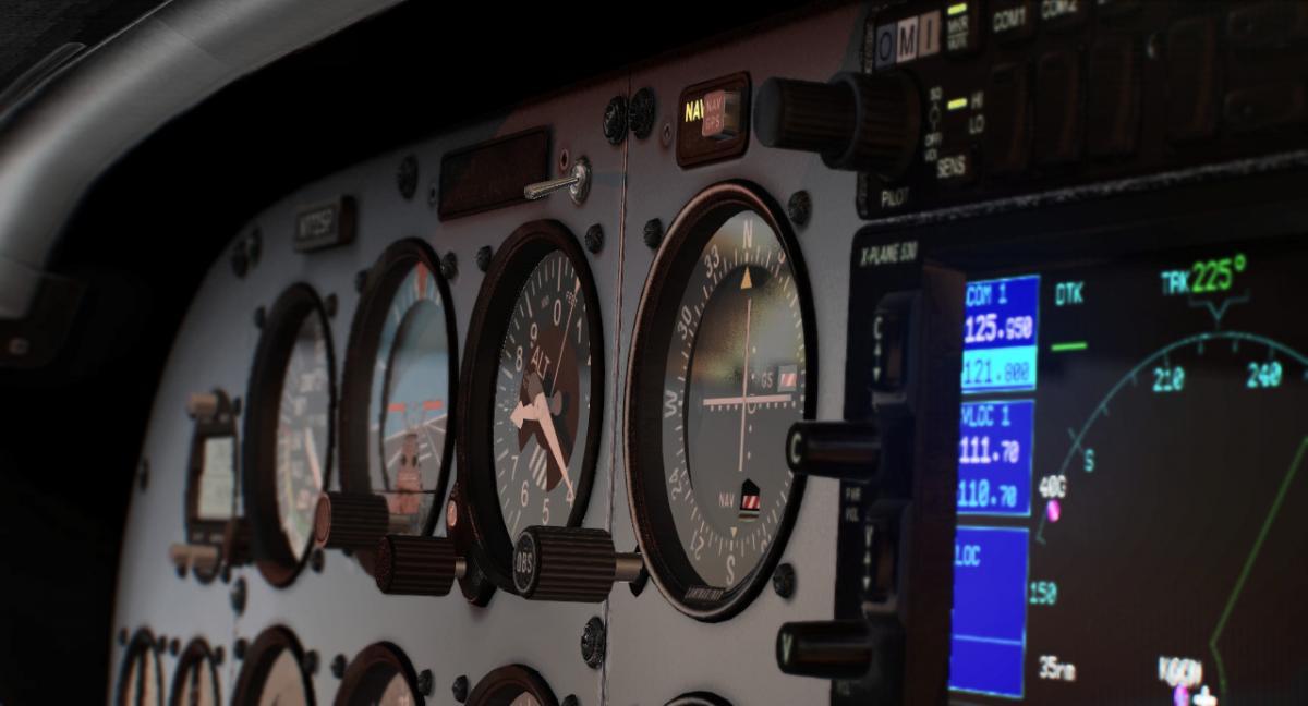 Cessna C172 SP - PBR Cockpit Overhaul - Aircraft Skins