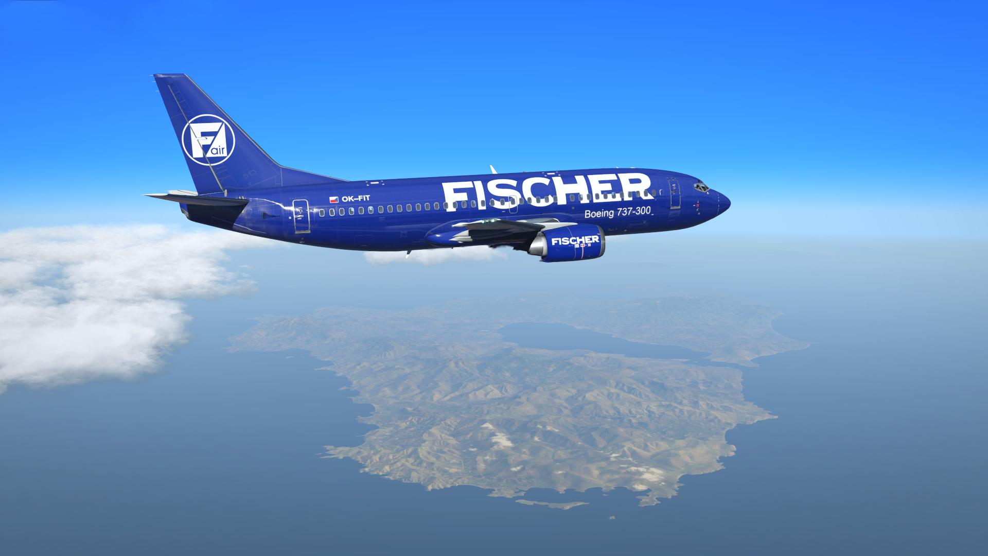 IXEG 737 - Fischer Air (OK-FIT) - Aircraft Skins - Liveries - X-Plane.Org  Forum