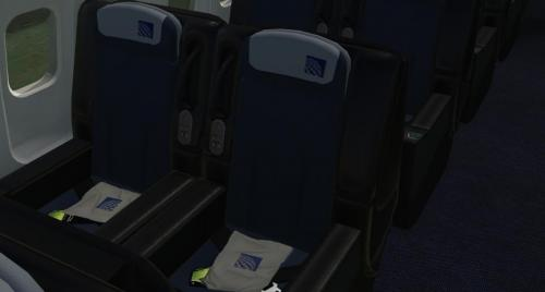 Flight Factor B757-300 United Airlines Interior Cabin