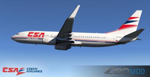 ZIBO 737-800 ZIBO Czech Airlines vintage repaint - Aircraft Skins