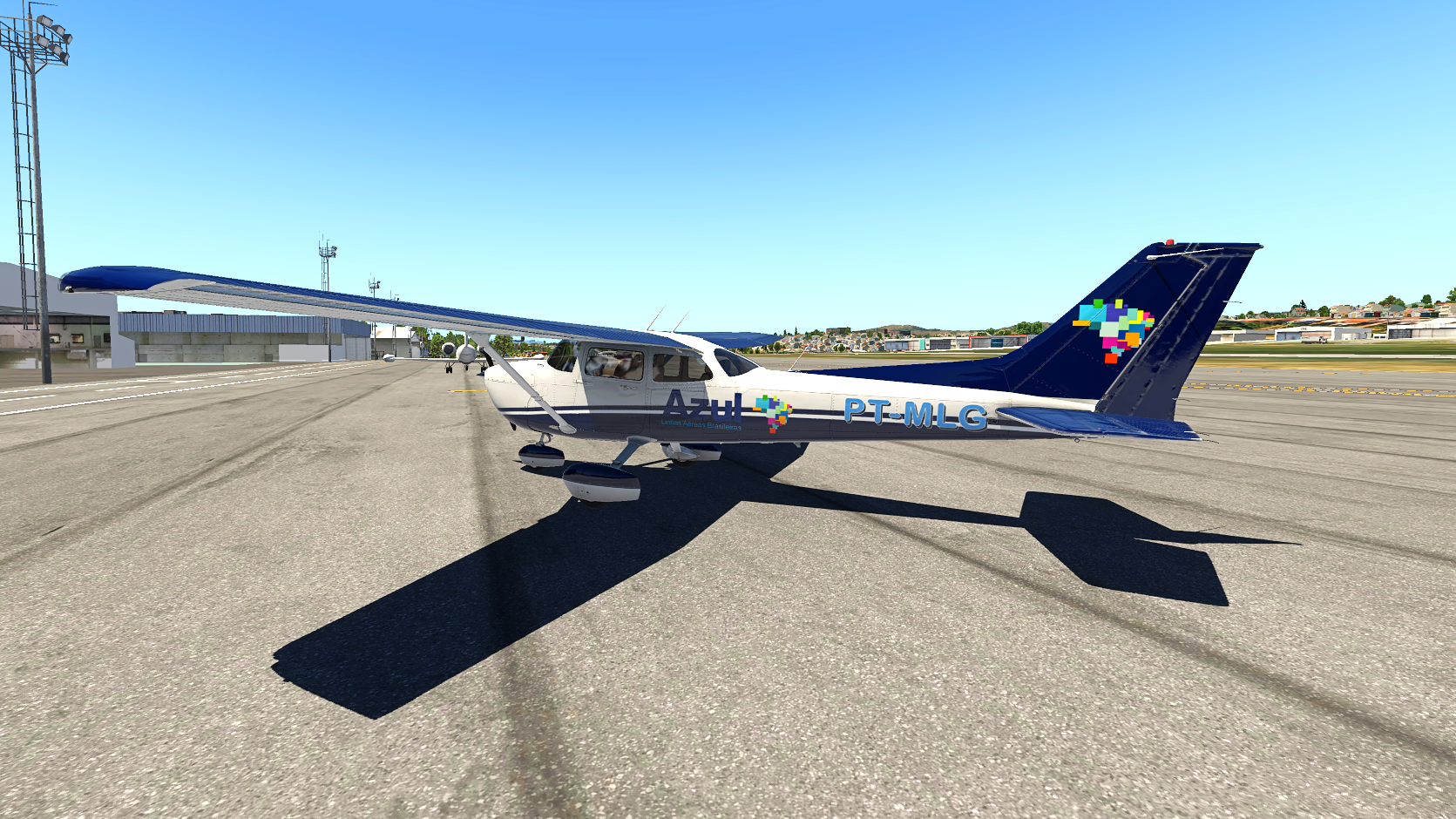 Pintura estilizada Azul Linhas Aéreas - General Aviation - X