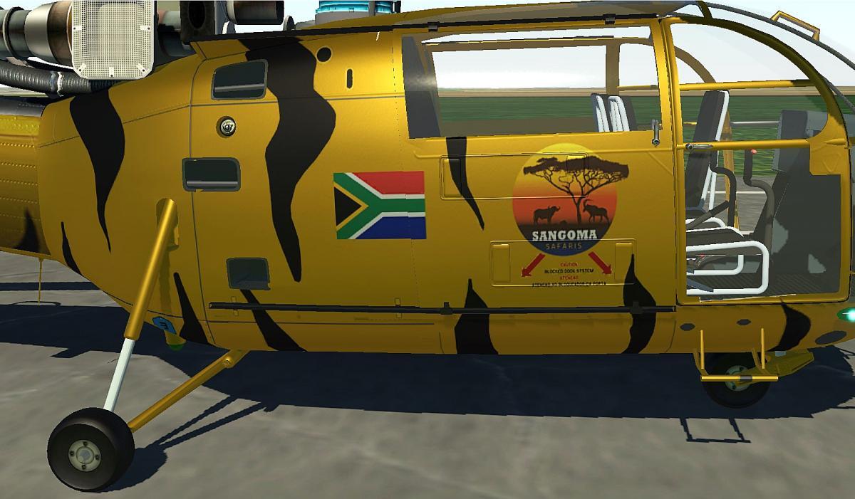 Sangoma Safaris ZT-TIGR (Aérospatiale Alouette III 1 0 By