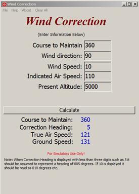 Wind Correction - Utilities - X-Plane Org Forum