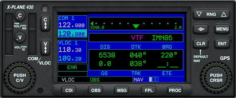 01 - Introduction to using the X-plane / Garmin 430w - GPS (430-530