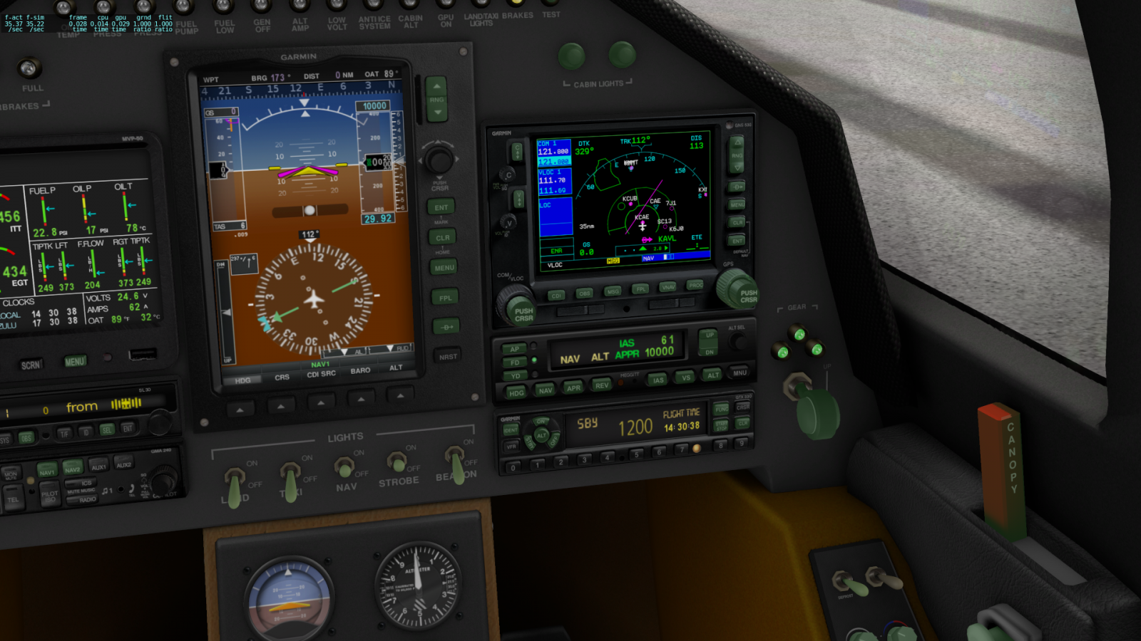 Green Cockpit Buttons - Technical Support - Cubby's Corner - X-Plane