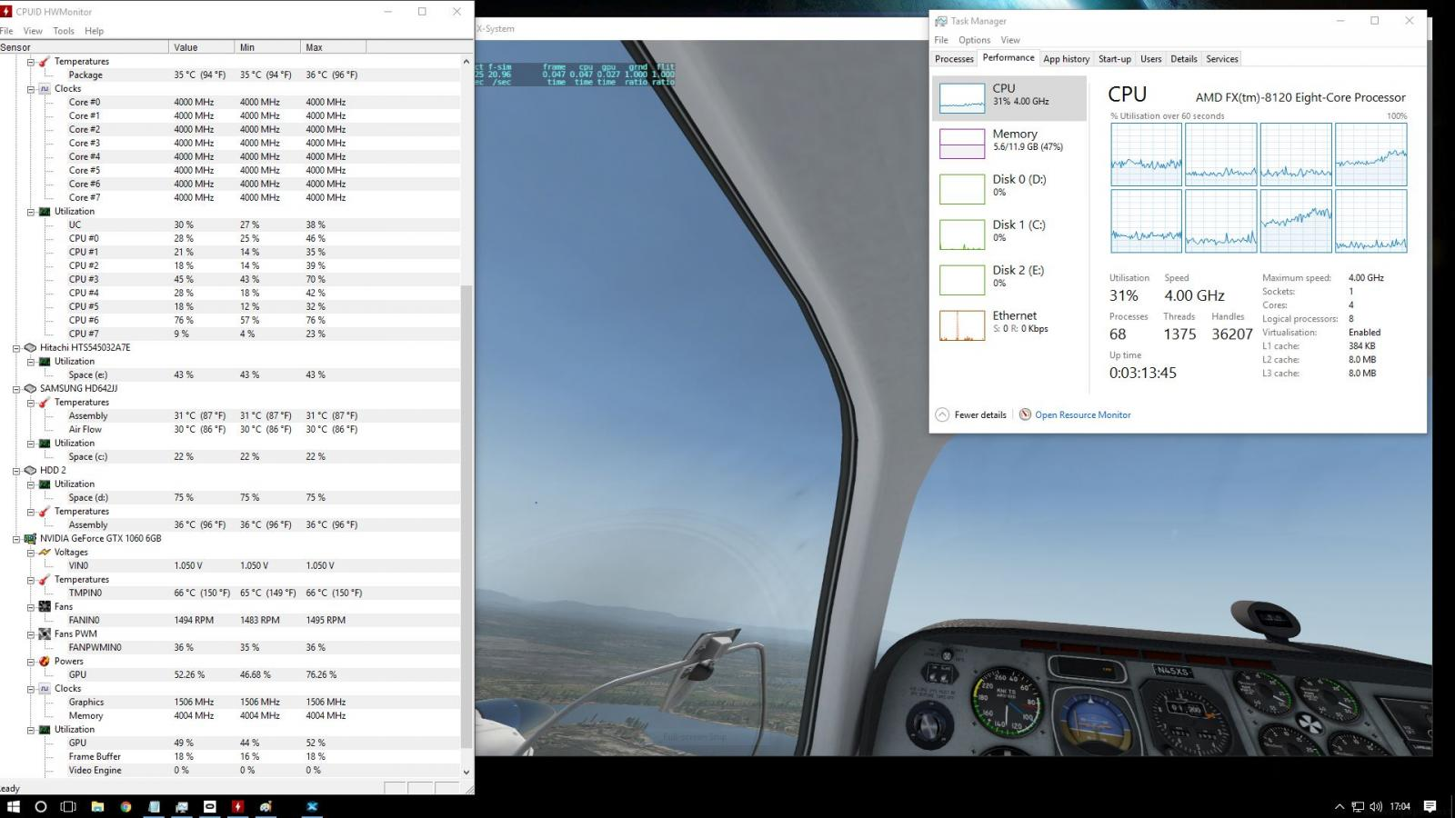 VR Headsets - XP11: Rendering Options - FPS - Hardware Settings - X