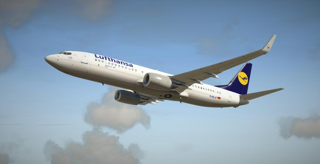 Lufthansa B737-800 XP11 Default - Aircraft Skins - Liveries - X