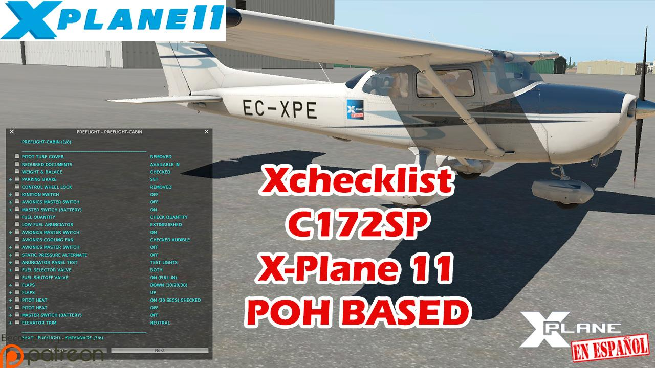 Xchecklist (clist txt) - C172SP default - X-Plane 11