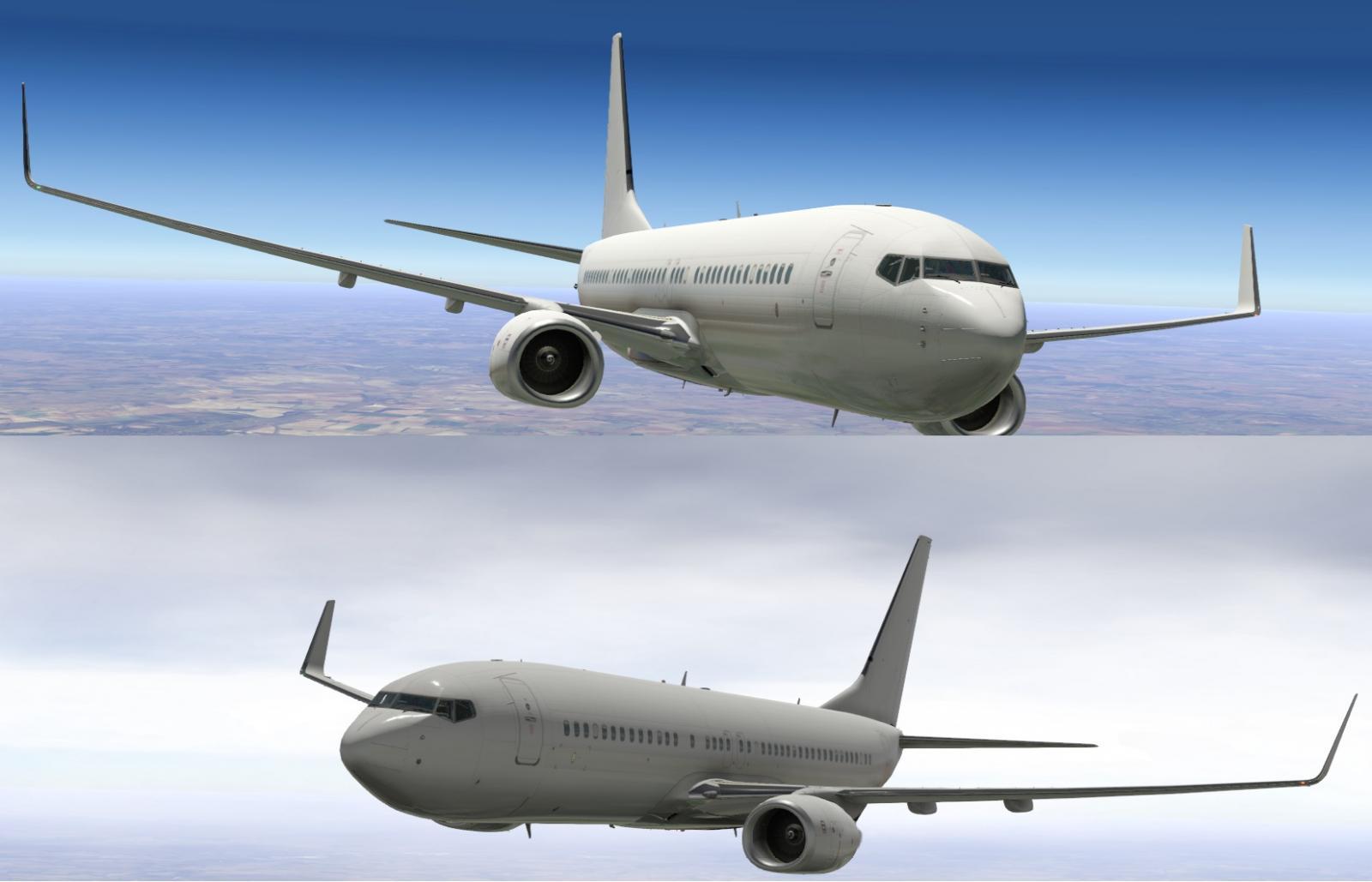 Default 737-800 White Paintkit - X-Plane 11 Screenshots - X