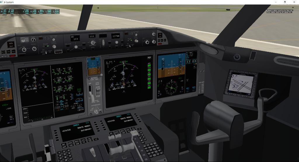 Latest 787 XP11 upgrade is fine, but cockpit is still far