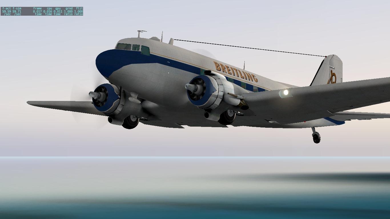 Breitling livery LES DC-3 - Aircraft Skins - Liveries - X-Plane Org