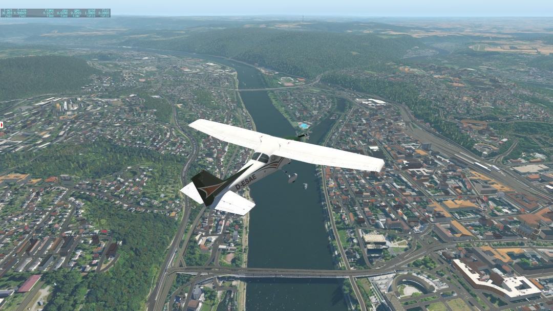 Ortho + W2XP + HDMesh - short FPS test - Ortho4XP - X-Plane