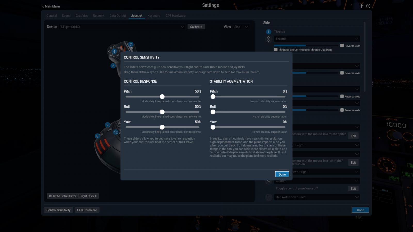 Control sensitivity setting!!! - XP11 General discussion - X-Plane