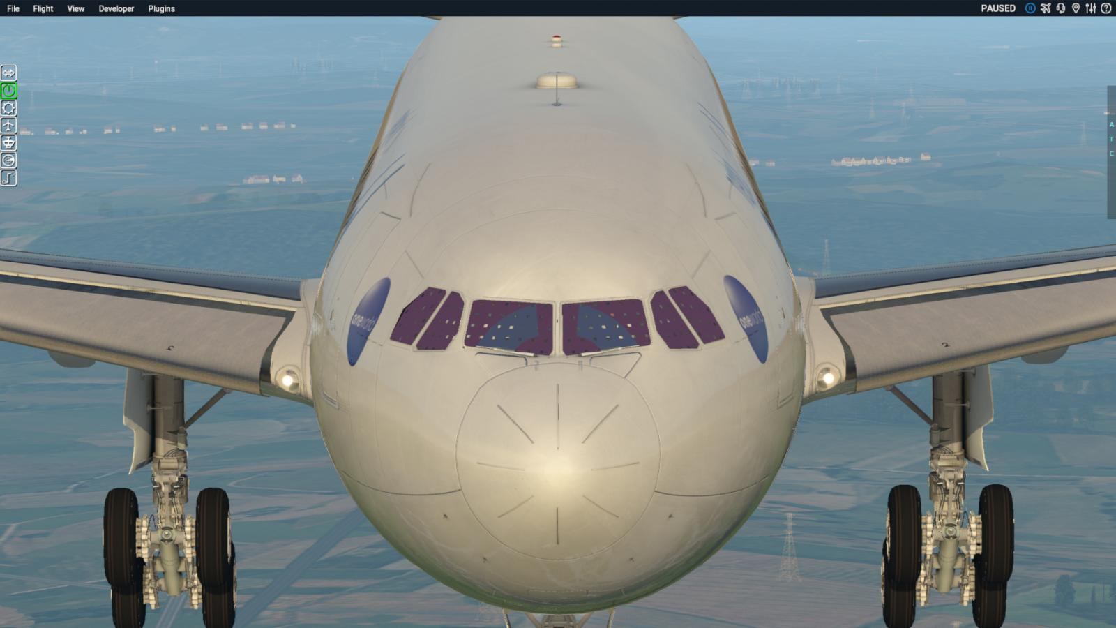 Graphic covering the windscreen      - A330 by JARdesign - X