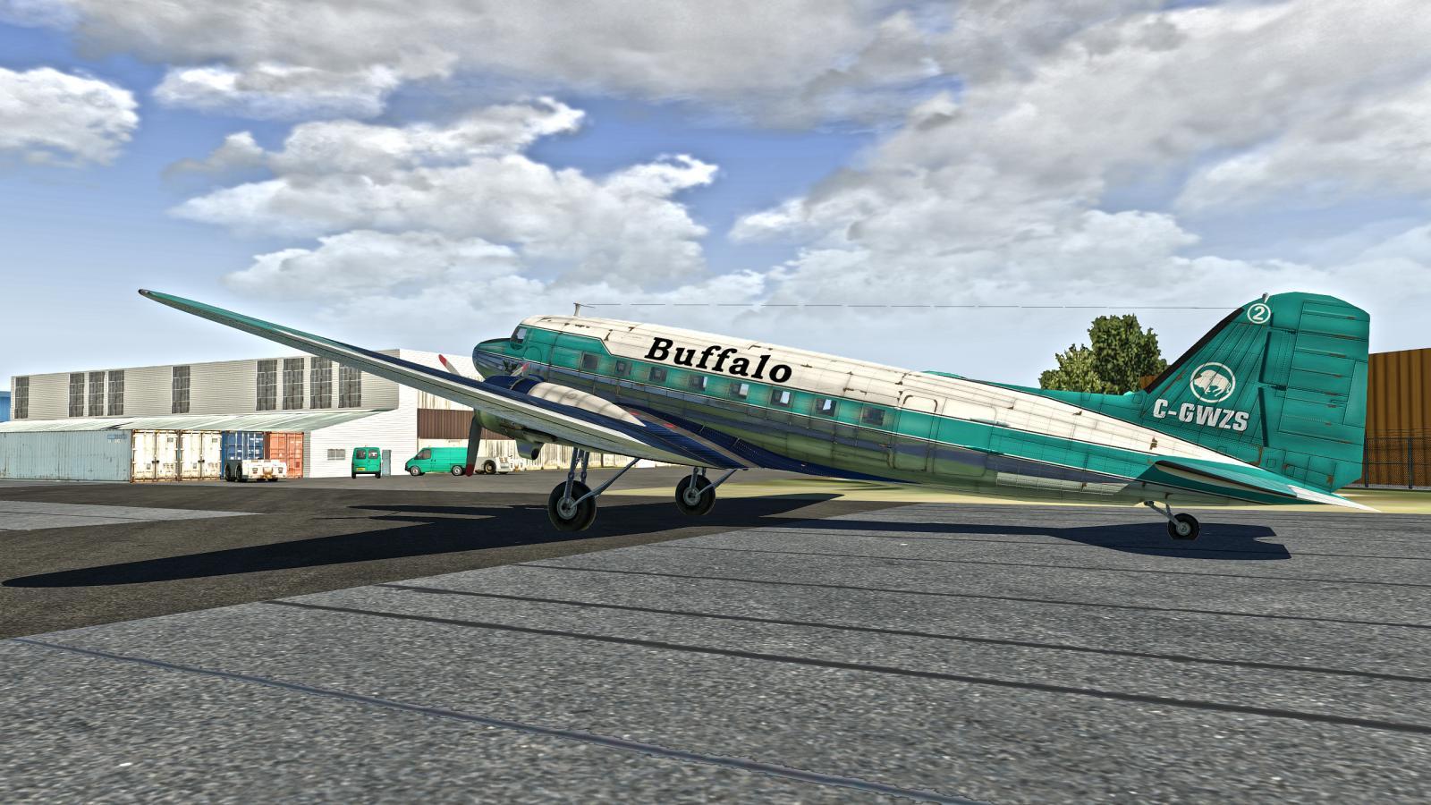 VSKYLABS DC-3 CYQF - X-Plane 11 Screenshots - X-Plane Org Forum