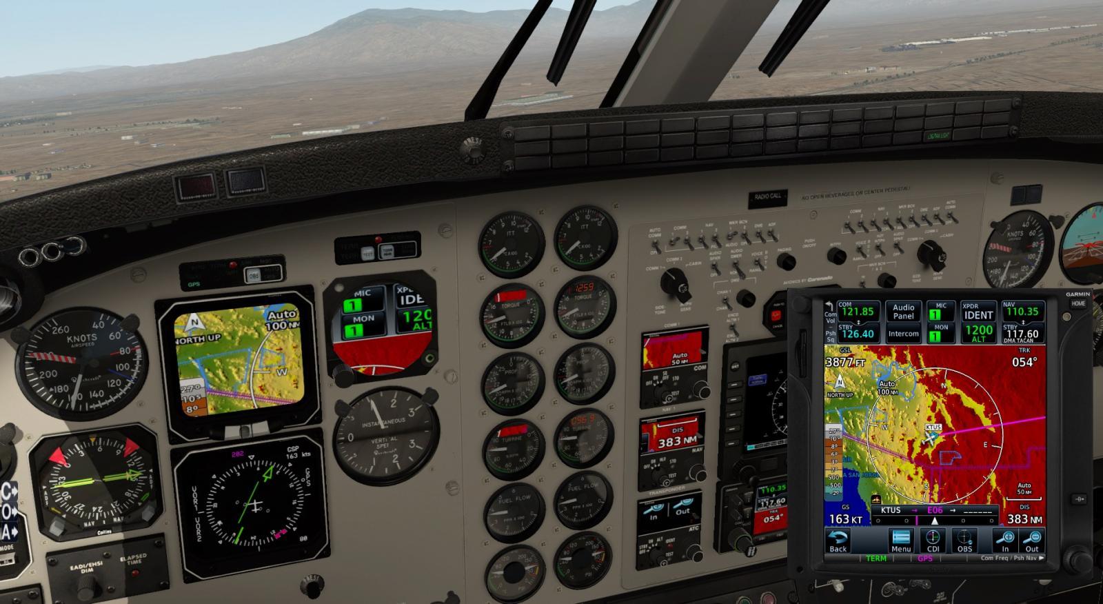 C90 King Air XP11 & GTN750 - Solved - Carenado - Alabeo Support - X