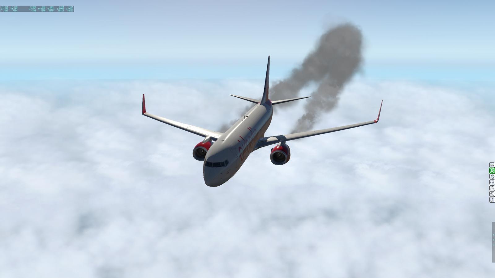 Unrealistic dark smoke (contrails) - XP11 General discussion