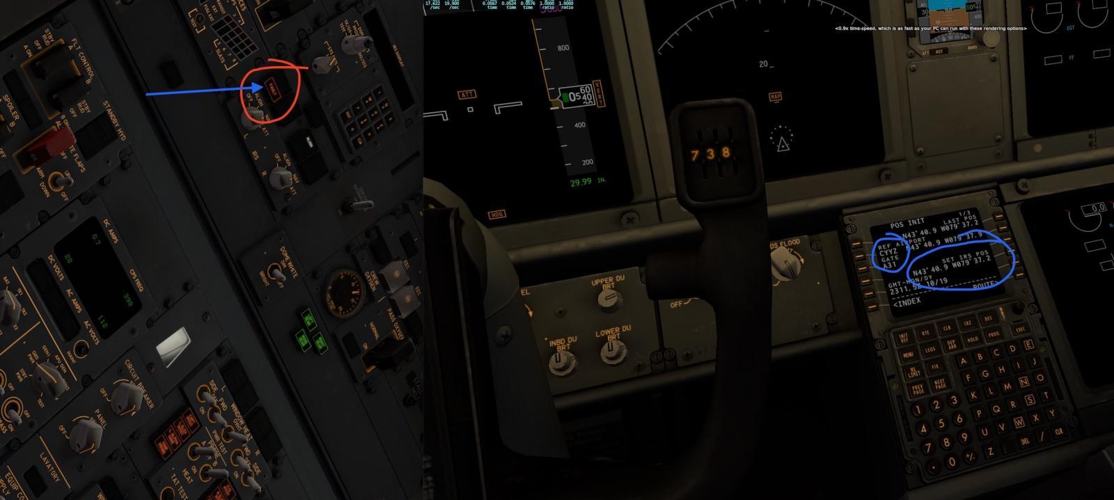 Zibo 737 Ground Steering