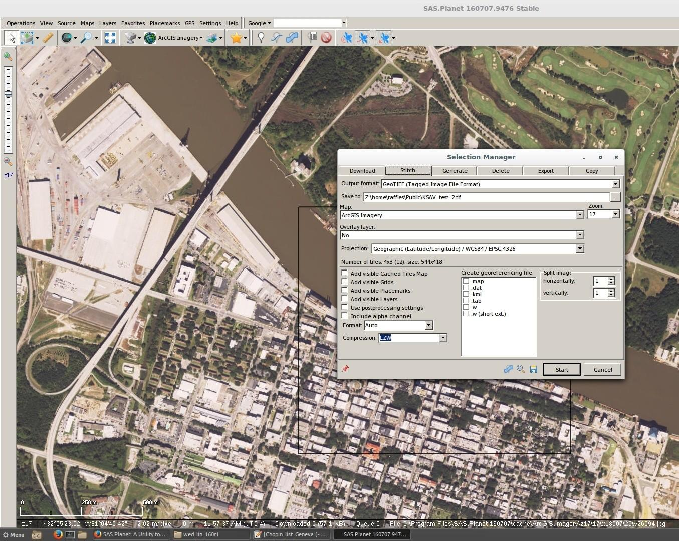 SAS Planet: A Utility to Place Satellite Reference Imagery