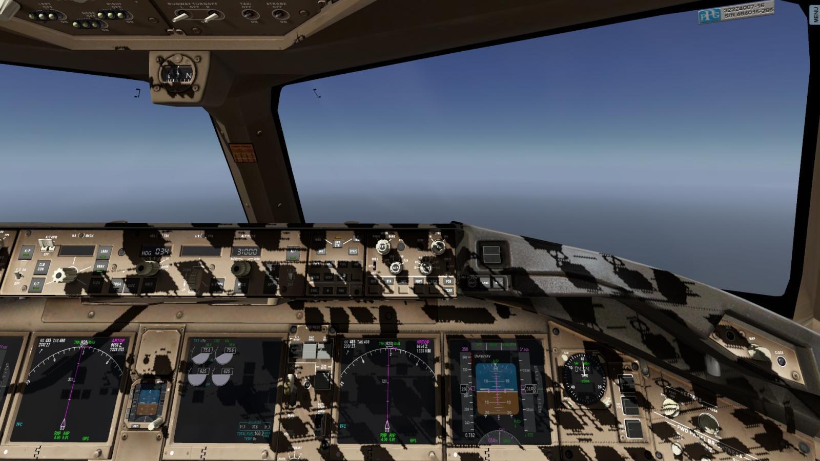 FF 777 cockpit shadows - Boeing 777 Worldliner Professional - X