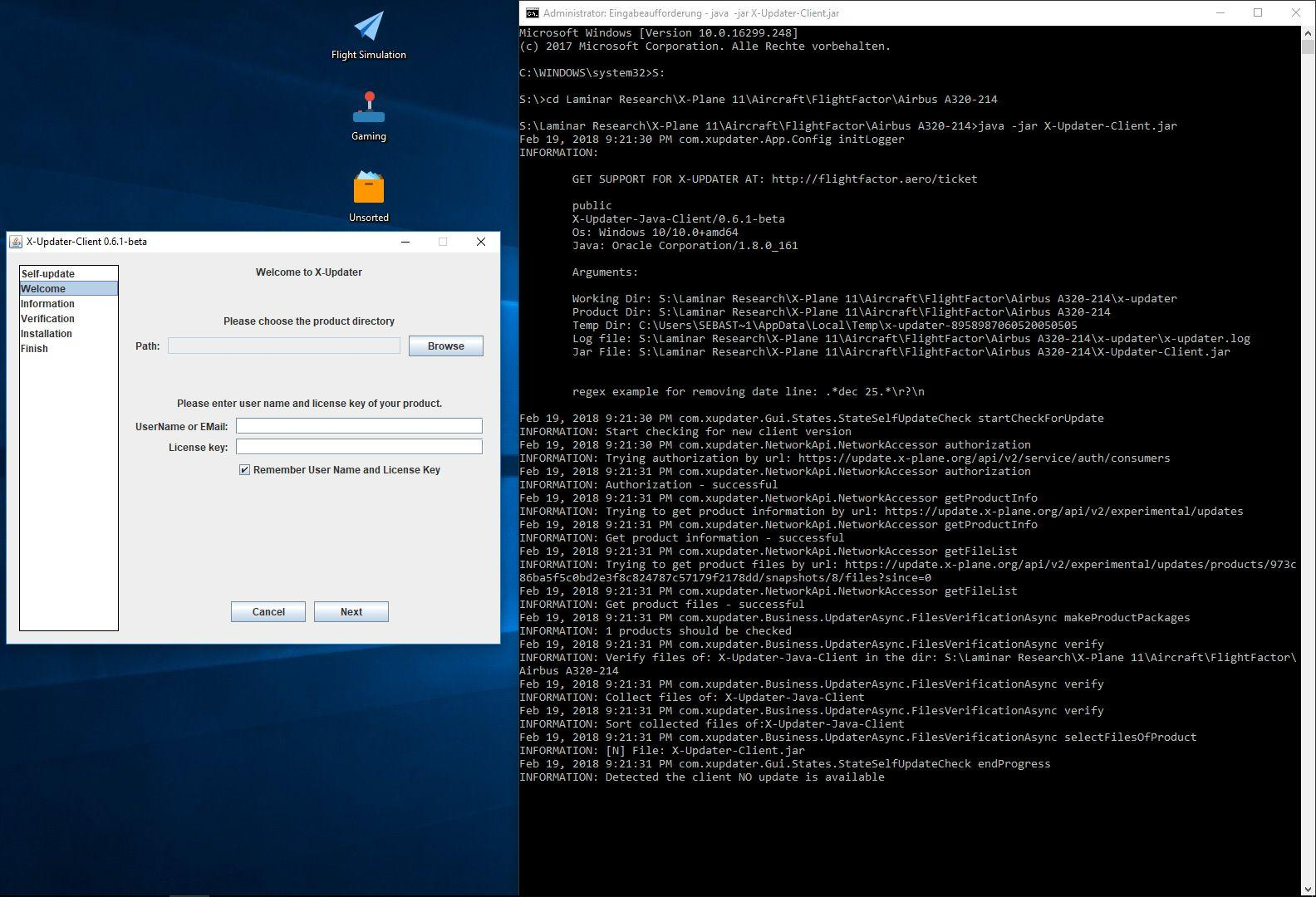 X-Updater not working - 320 Ultimate by Flight Factor - X-Plane Org
