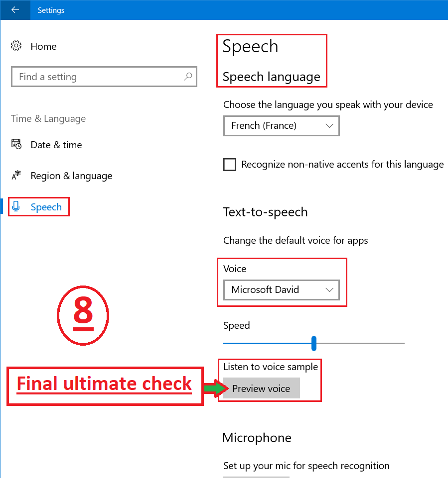 XChecklist - How to change the language of speech? - Technical