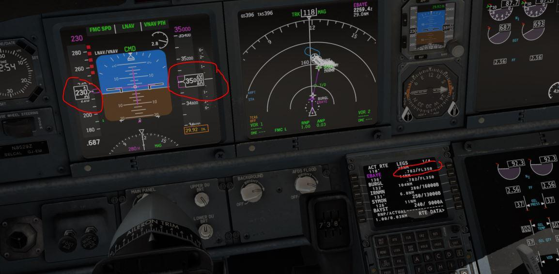Boeing 737-800X Zibo KSFO>KLAX Cruising Speed - XP11 FMS and Nav ...