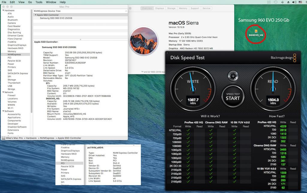 Booting from NVME M 2 in Mac Pro now possible - Hardware - X-Plane