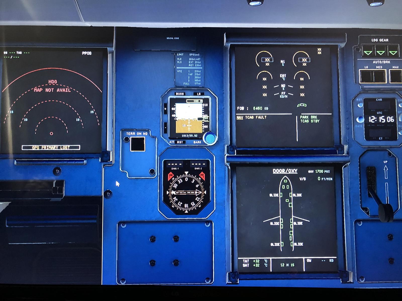 Flight Factor A320 Adirs/Nav Tcas Fault - General X-Plane