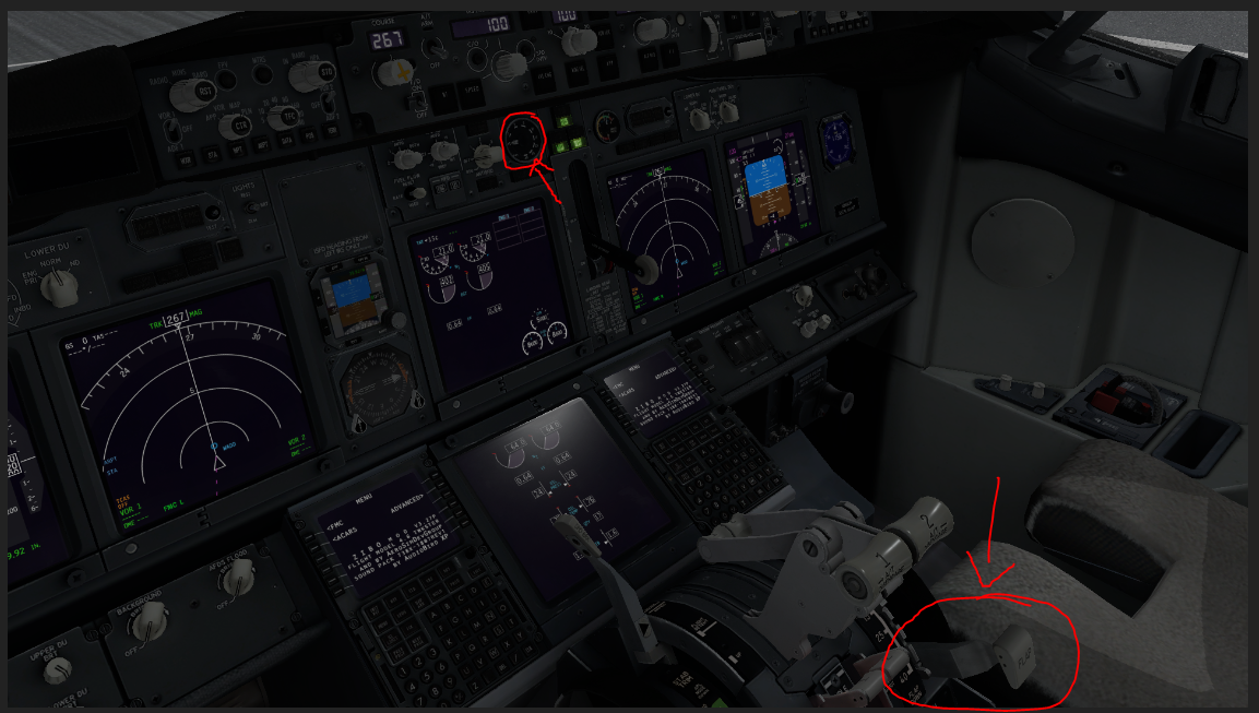 the flap didn,t work ( detend/ extend ) - ZIBO B738-800 modified - X