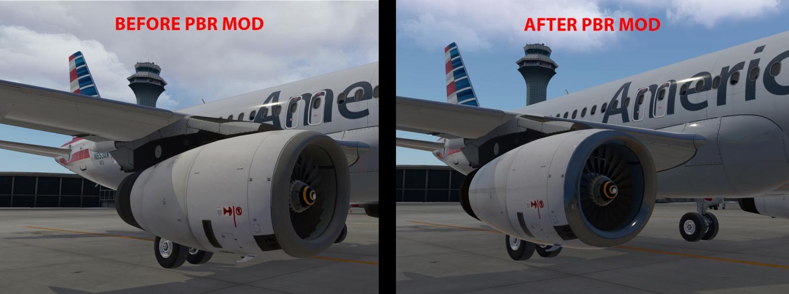 IAE V2500 installation guide for the FlightFactor A320