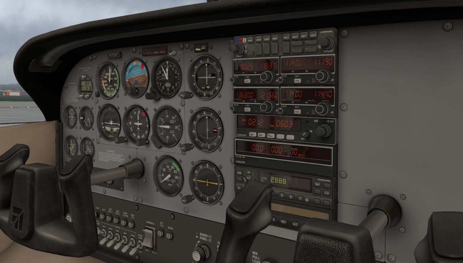 XP11 C172 /A (Slant Alpha) (No GPS) - General Aviation - X
