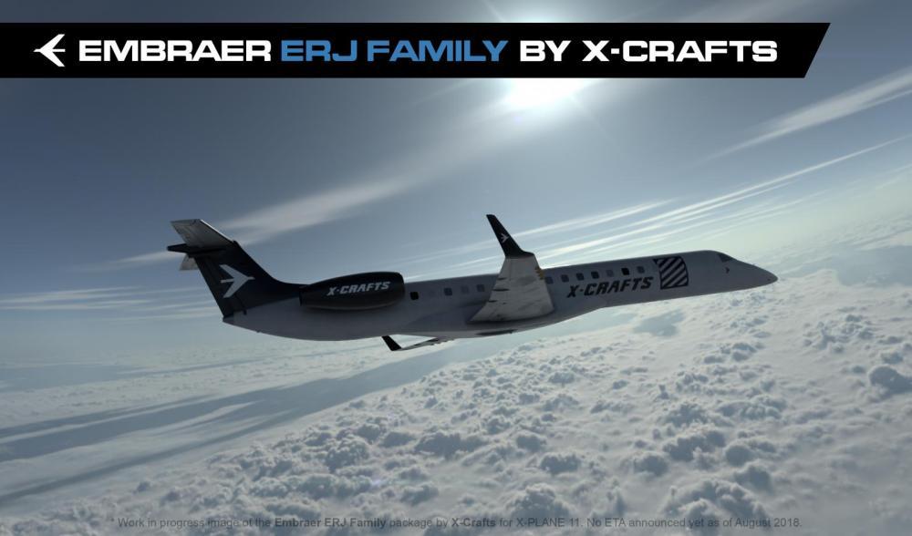 X-Crafts announces Embraer ERJ-135/140/145 for X-Plane 11 - News by