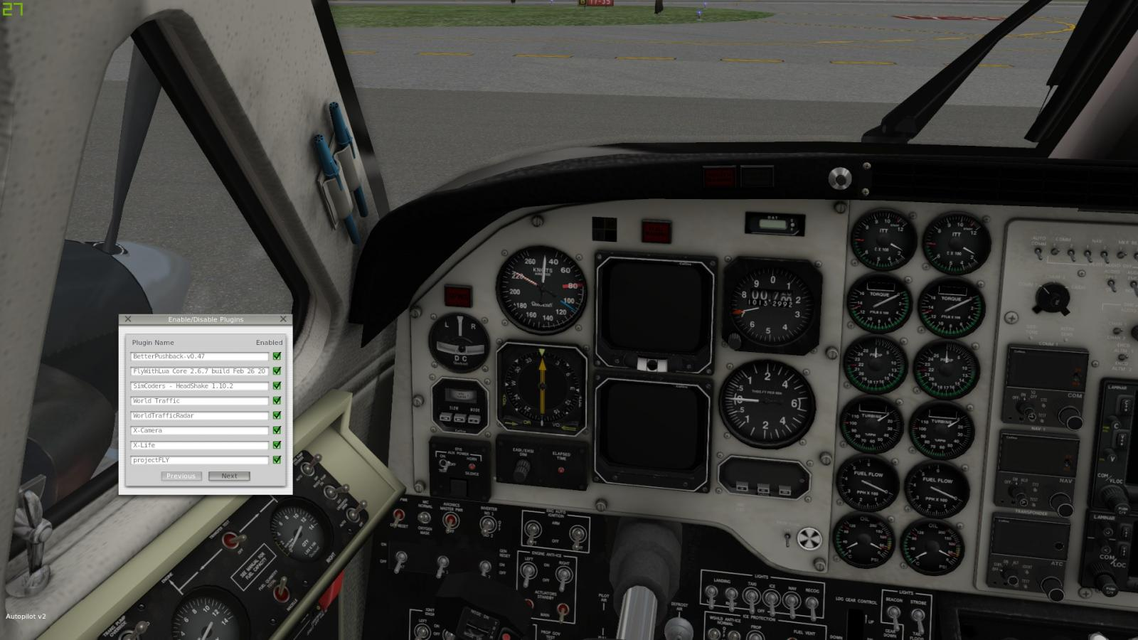 World Traffic Radar freezing 3D cockpit levers and switches