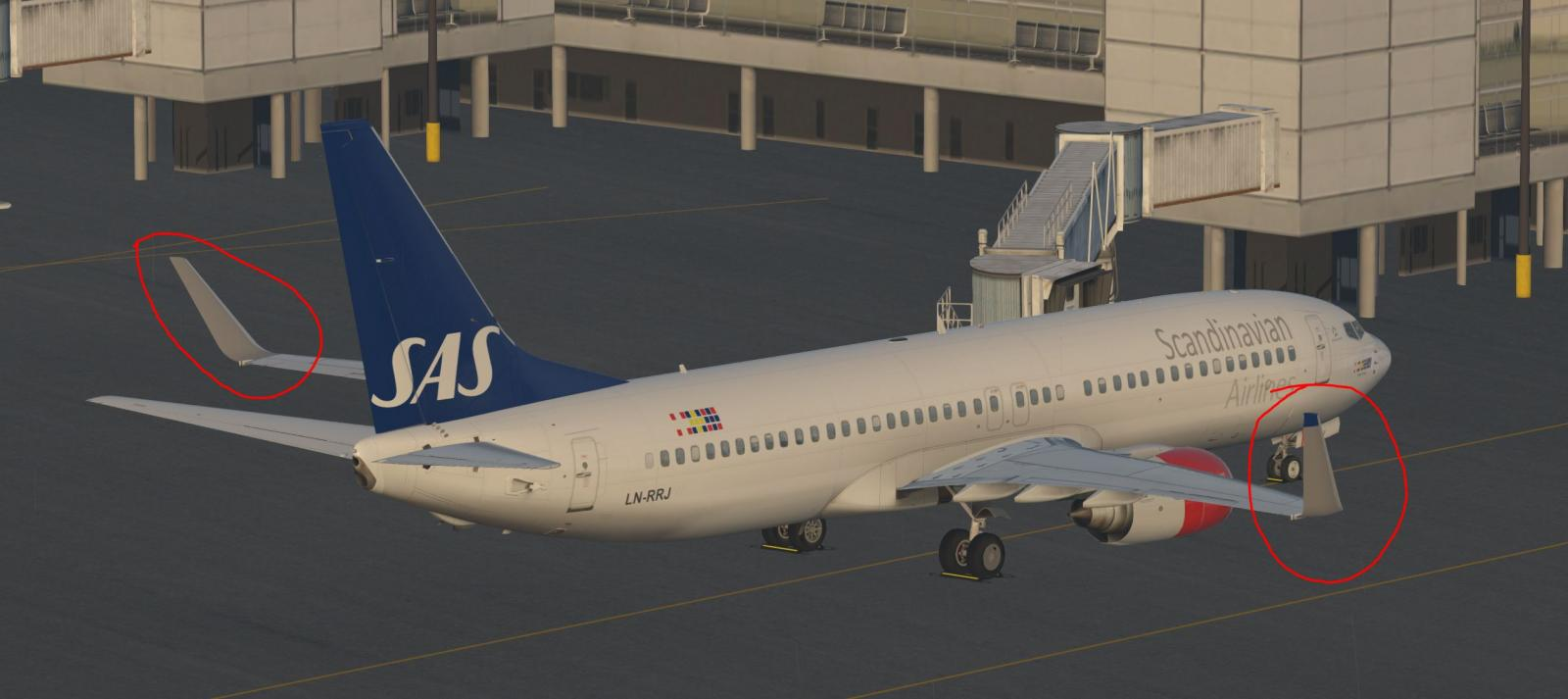 V3 31 - Winglets texture issue - ZIBO B738-800 modified - X-Plane