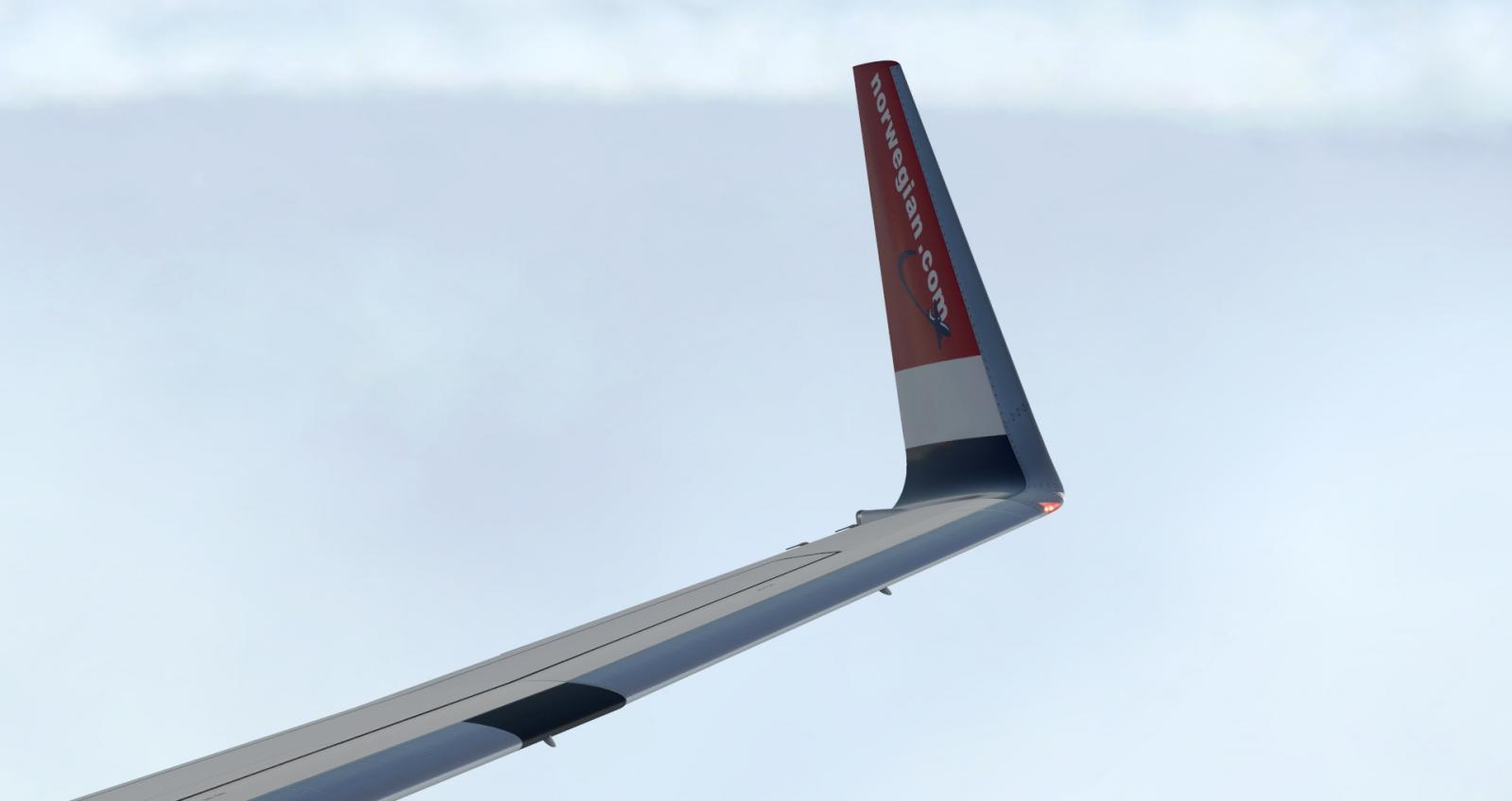 737-800 Norwegian Wing texture - Aircraft Skins - Liveries - X-Plane