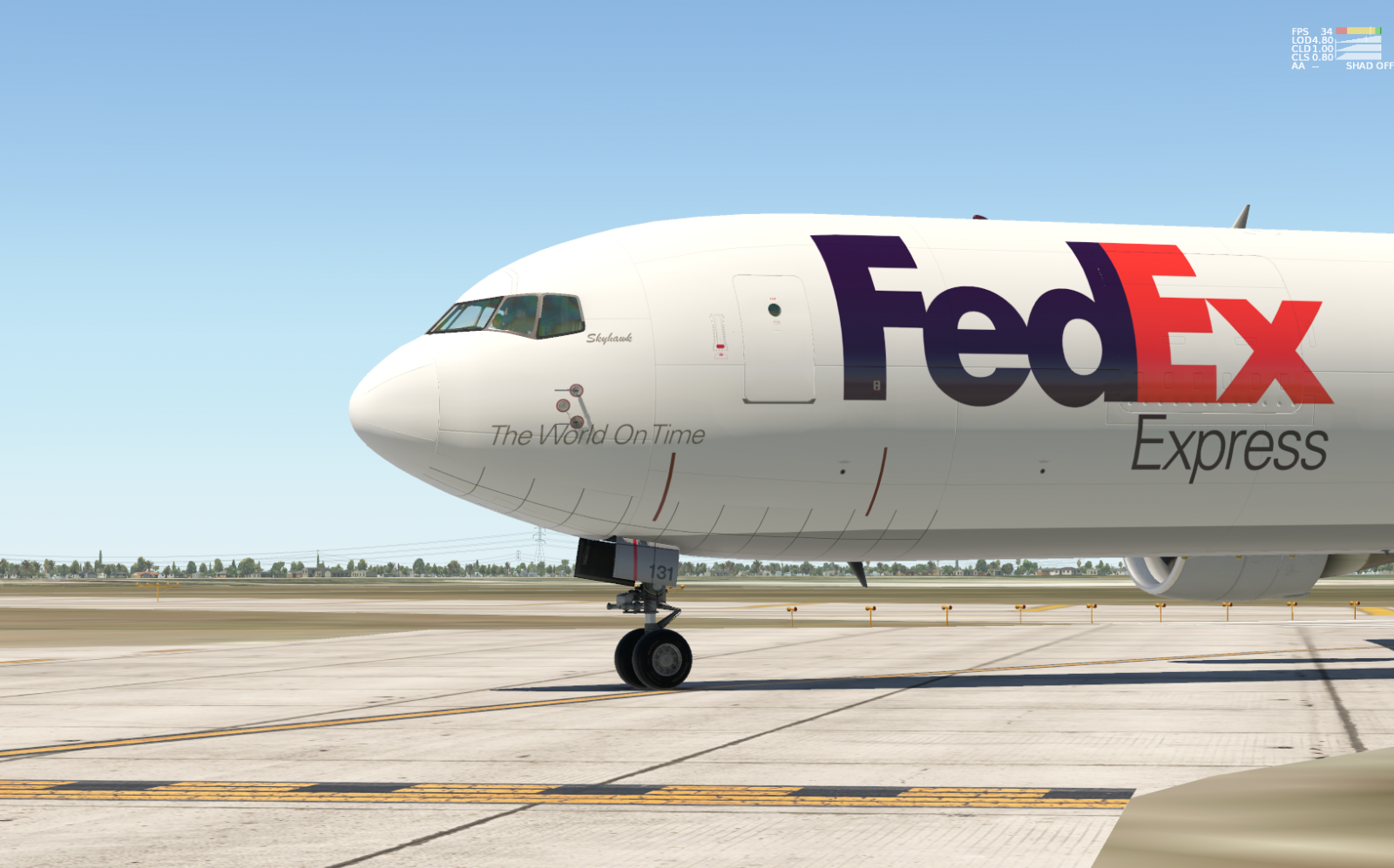 Since the 767 is still in production, we need factory fresh FedEx