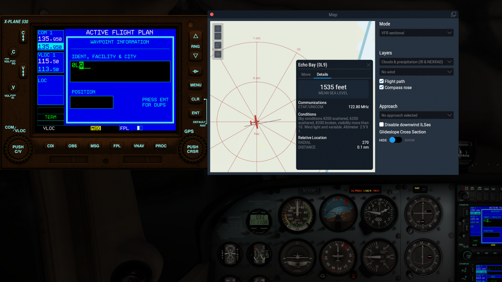 updating the Garmin GNS530/430 in x-plane11 C172 - XP11 FMS and Nav