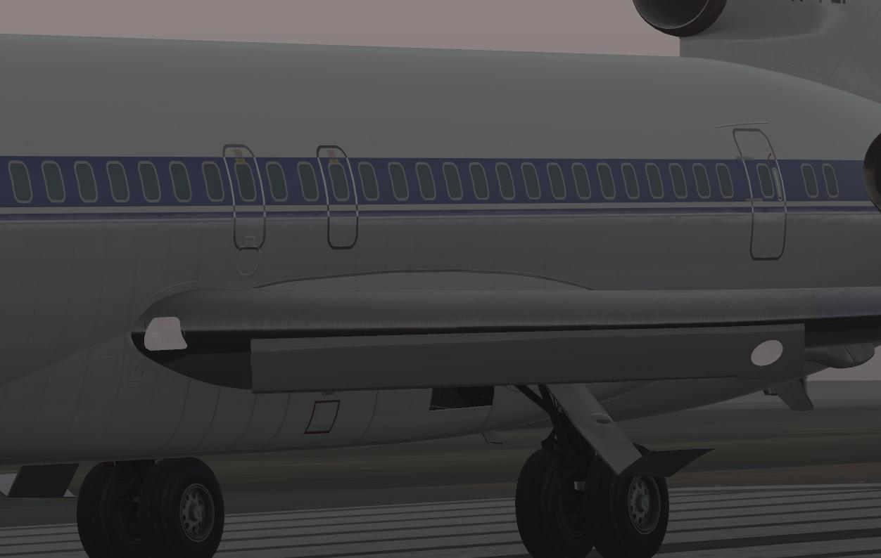 White glass on the wing lights  - FlyJSim 727 Series