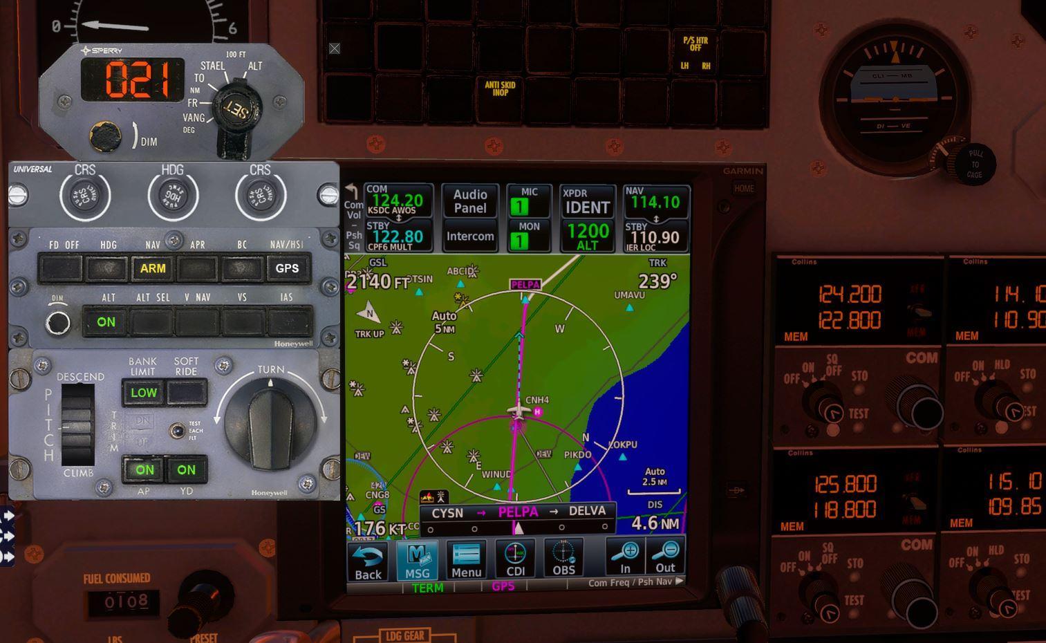 Cessna Citation 550 autopilot support - Carenado - Alabeo