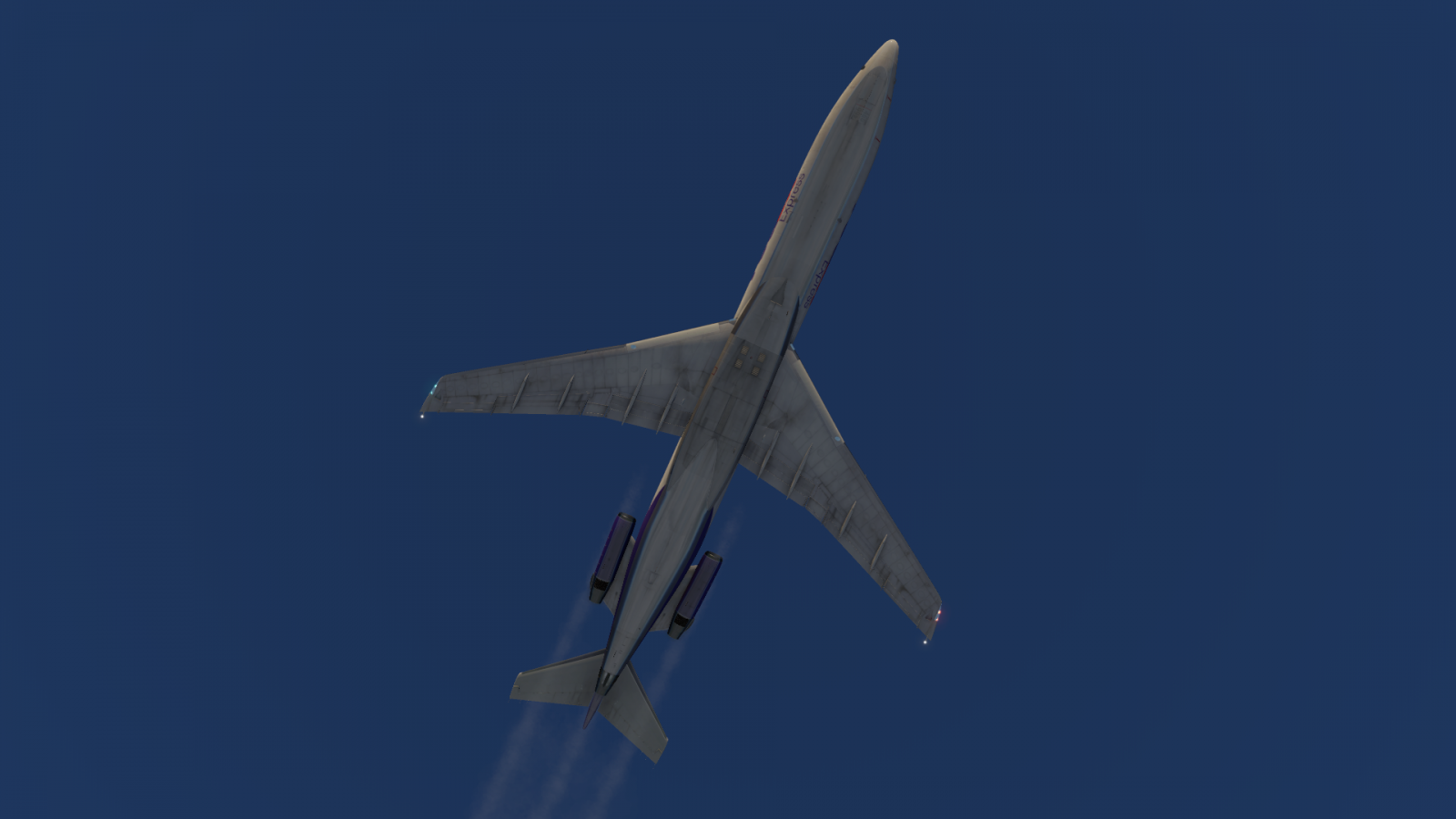 Contrail issue when throttles moved to idle - FlyJSim 727