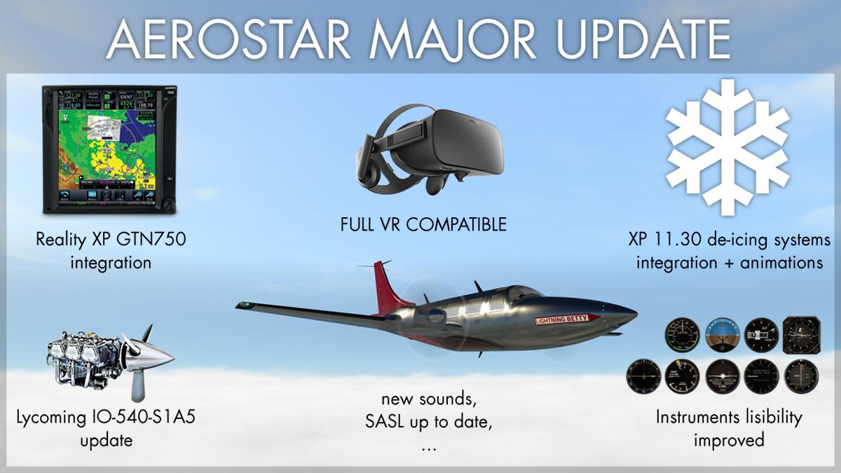 AEROSTAR by Avia71 - Major update - News from Commercial Designers