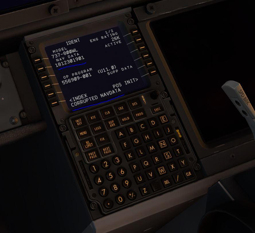 Corrupted Navigation Data Issue (1901), ZIBO 737 - ZIBO B738-800