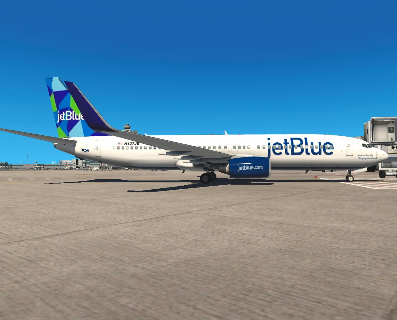 jetBlue (Mint) - Boeing 737-800 (Default) (Zibo) X-Plane 11