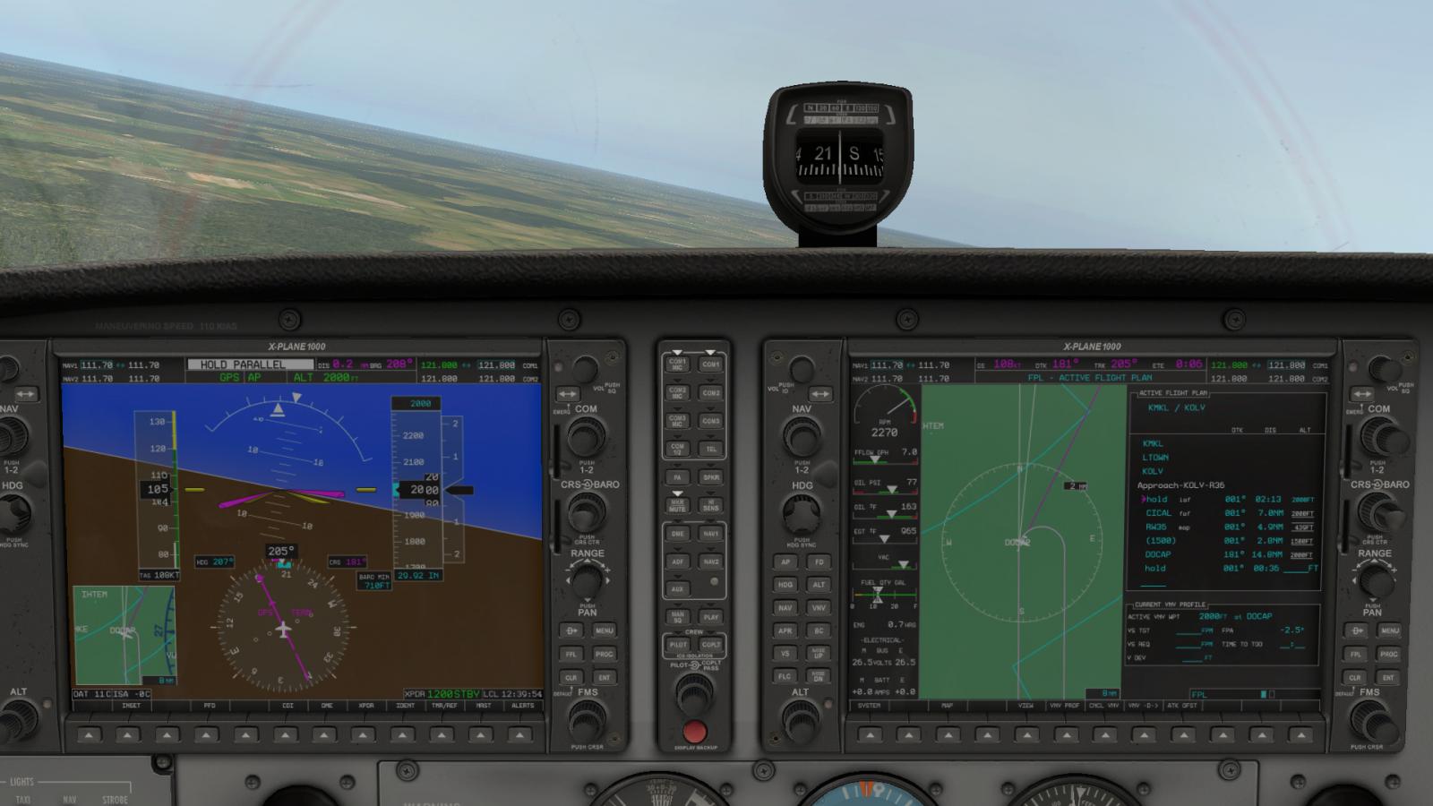 Strange G1000 autopilot behavior on entering published holds
