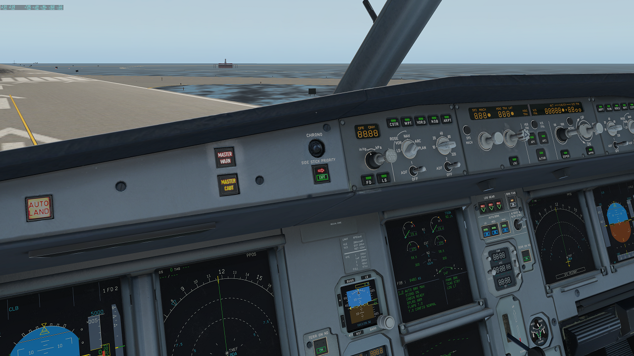 Lit Texture on Buttons / Panels - 320 Ultimate by Flight Factor - X
