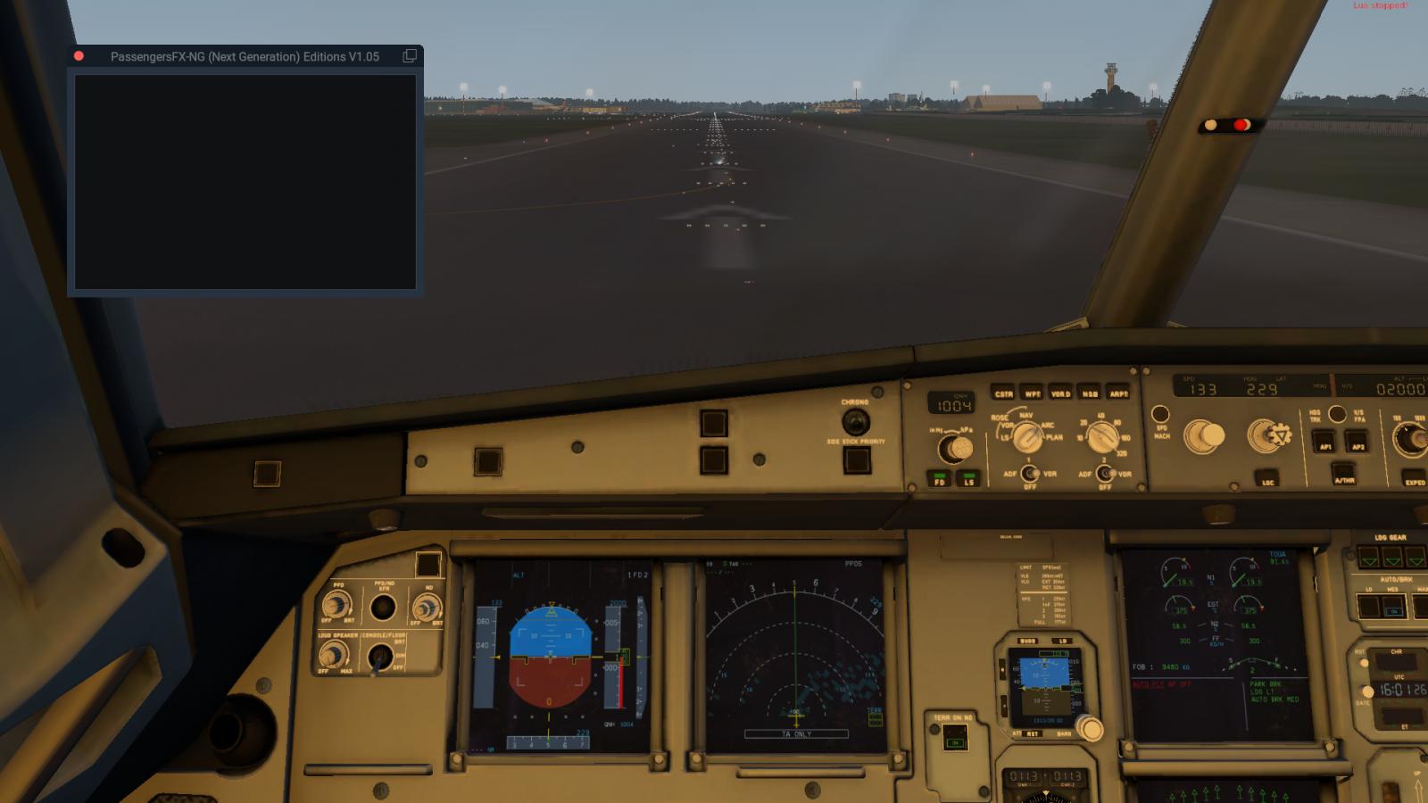 Passenger FX (German) problem with FF A320 - PassengersFX