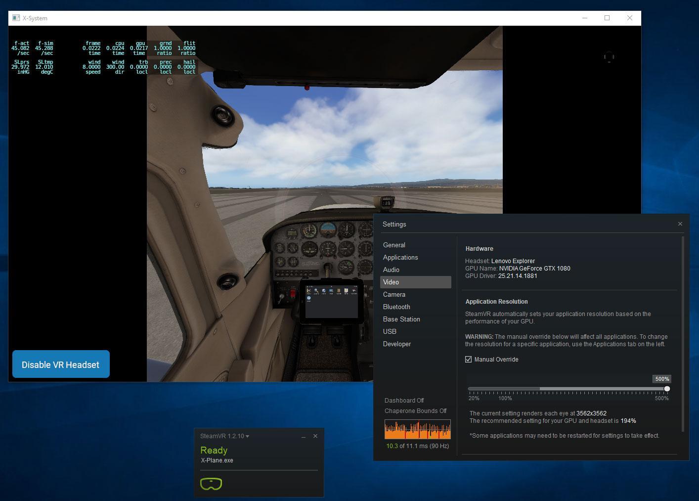 WMR settings advice - VR in X-Plane 11 - X-Plane Org Forum