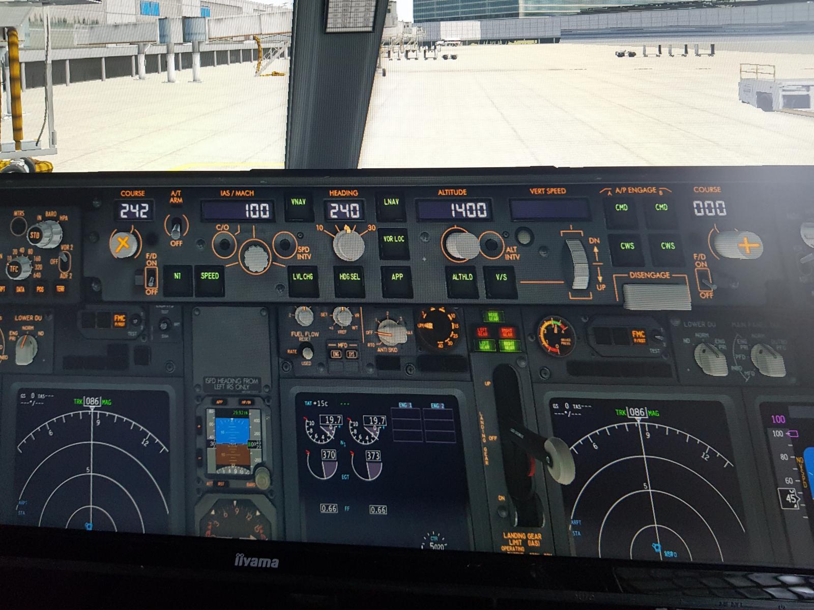 Zibo 737-800 autopilot panel problem - ZIBO B738-800