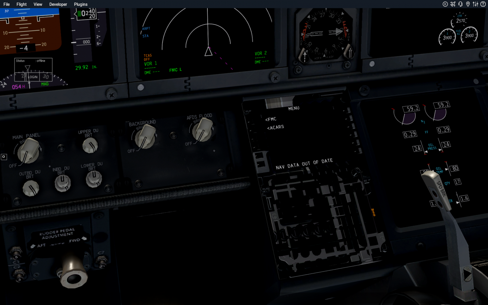 I installed the newest 737-800 but my FMC is broken - ZIBO B738-800
